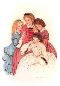 thumbnail Jessie Willcox Smith – Meg, Jo, Beth and Amy (Little Women by Louisa May Alcott) [from Jessie Willcox Smith: American Illustrator]