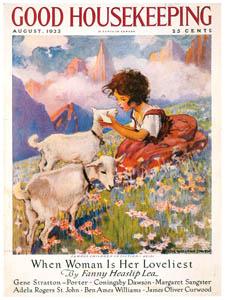 ジェシー・ウィルコックス・スミス – ハイジ (グッド・ハウスキーピングの1923年8月号の表紙) [ジェシー・ウィルコックス・スミス: アメリカンイラストレーターより]のサムネイル画像