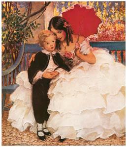 ジェシー・ウィルコックス・スミス – デイヴィッド・コパフィールドと母 [ジェシー・ウィルコックス・スミス: アメリカンイラストレーターより]のサムネイル画像