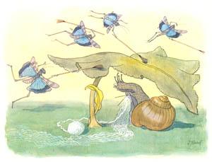 thumbnail Ernst Kreidolf – Mrs. Snail [from Lenzgesind ]
