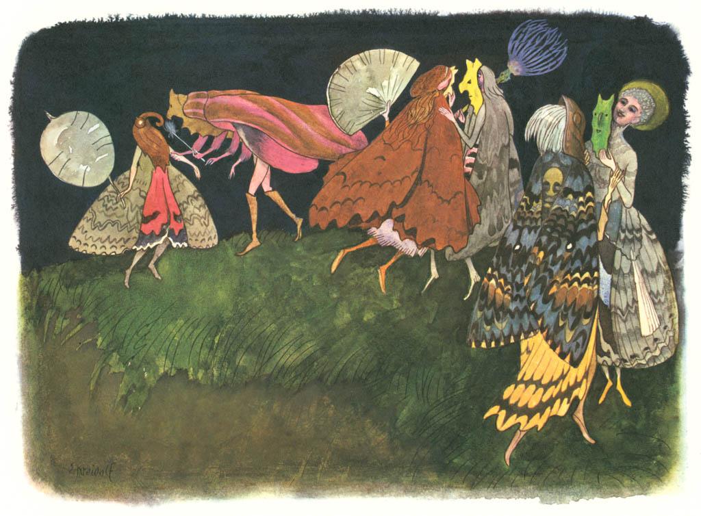 エルンスト・クライドルフ – 仮面舞踏会 [花を棲みかに(ドイツ語版)より] パブリックドメイン画像