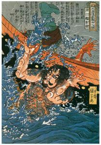 thumbnail Utagawa Kuniyoshi – Konkōryū Rishun (One Hundred Eight Heroes of a Popular Water Margin) [from Of Brigands and Bravery: Kuniyoshi's Heroes of the Suikoden]