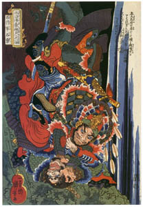 歌川国芳 – 通俗水滸伝豪傑百八人之一個 石将軍石勇 [Of Brigands and Bravery: Kuniyoshi's Heroes of the Suikodenより]のサムネイル画像