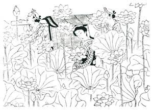 小村雪岱 – おせん 挿絵1 [小村雪岱より]のサムネイル画像