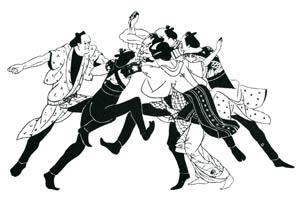小村雪岱 – 喧嘩鳶 挿絵1 [小村雪岱より]のサムネイル画像