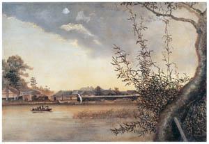 高橋由一 – 真崎の渡 [近代洋画の開拓者 高橋由一展より]のサムネイル画像
