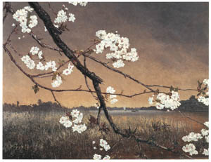 thumbnail Takahashi Yuichi – Cherry Blossoms by the Sumida River [from Takahashi Yuichi: Pioneer of Modern Western-style Painting]