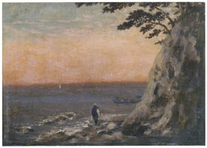 thumbnail Takahashi Yuichi – Seashore (Enoshima-chigogafuchi) [from Takahashi Yuichi: Pioneer of Modern Western-style Painting]
