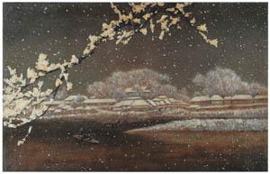 高橋由一 – 雪景 [近代洋画の開拓者 高橋由一展より]のサムネイル画像