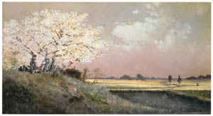 thumbnail Takahashi Yuichi – Cherry Blossoms on the Bank of the Sumida River [from Takahashi Yuichi: Pioneer of Modern Western-style Painting]