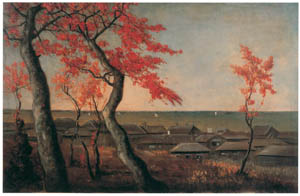 thumbnail Takahashi Yuichi – Autumn Foliage at Kaianji Temple, Shinagawa [from Takahashi Yuichi: Pioneer of Modern Western-style Painting]