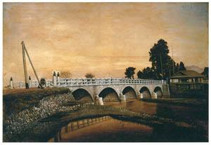 高橋由一 – 酢川にかかる常盤橋 [近代洋画の開拓者 高橋由一展より]のサムネイル画像