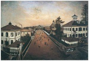 高橋由一 – 山形市街図 [近代洋画の開拓者 高橋由一展より]のサムネイル画像