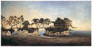 高橋由一 – 松島五大堂図 [近代洋画の開拓者 高橋由一展より]のサムネイル画像