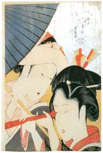 thumbnail Katsushika Hokusai – Telescope (Seven Fashionable Useless Habits) [from Meihin Soroimono Ukiyo-e]