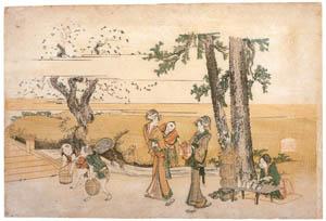 thumbnail Katsushika Hokusai – The Print of Famous Place: Ōji [from Meihin Soroimono Ukiyo-e]