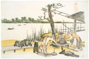 葛飾北斎 – 名所絵 今戸川 [名品揃物浮世絵9 北斎IIより]のサムネイル画像