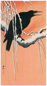 小原古邨 – 雪の柳に烏 [版画芸術 181号より]のサムネイル画像