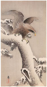thumbnail Ohara Koson – White-tailed Eagle on Snowy Pine [from Hanga Geijutsu No.180]