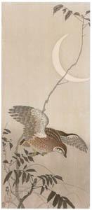 thumbnail Ohara Koson – Japanese Quail with Moon [from Hanga Geijutsu No.180]