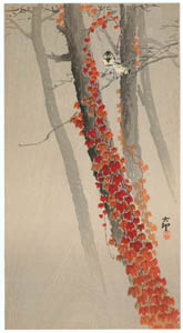 thumbnail Ohara Koson – Autumn Ivy and Japanese Tits [from Hanga Geijutsu No.180]