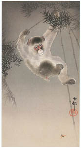 thumbnail Ohara Koson – Bamboo, Monkey and Bee [from Hanga Geijutsu No.180]