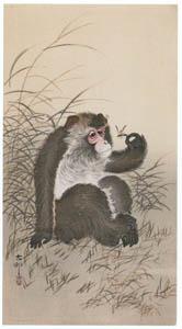 thumbnail Ohara Koson – Monkey and Bee [from Hanga Geijutsu No.180]