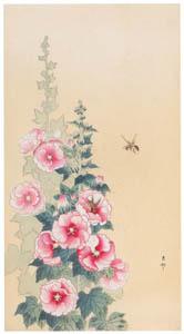 thumbnail Ohara Koson – Bee and Common Hollyhock [from Hanga Geijutsu No.180]