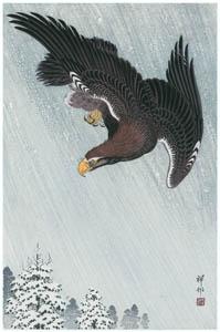 thumbnail Ohara Koson – Flying Eagle [from Hanga Geijutsu No.180]