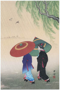 thumbnail Ohara Koson – Two Women in the Rain [from Hanga Geijutsu No.180]