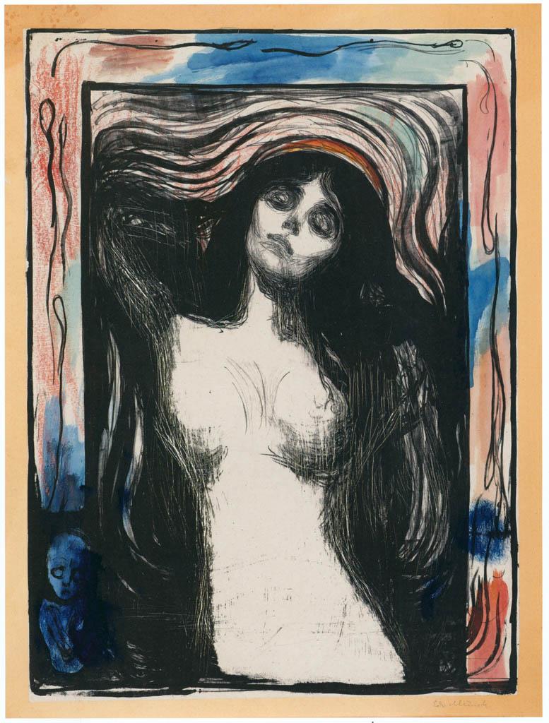 エドヴァルド・ムンク – マドンナ [版画芸術 181号より] パブリックドメイン画像