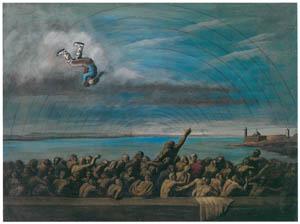 エドガー・エンデ – スケートをする人 [エンデ父子展より]のサムネイル画像