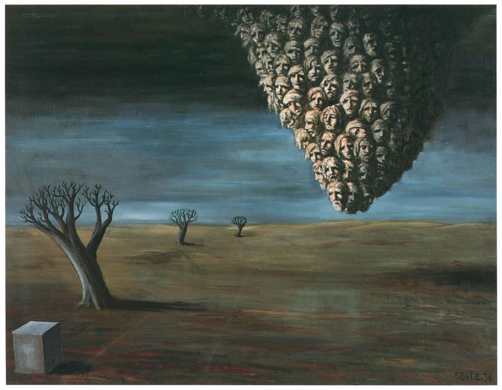 エドガー・エンデ – 土地の精霊 [エンデ父子展より] パブリックドメイン画像