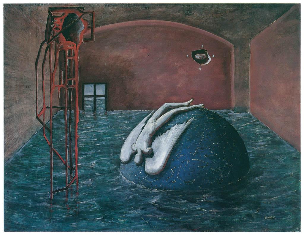 エドガー・エンデ – 黙示録的室内 [エンデ父子展より] パブリックドメイン画像