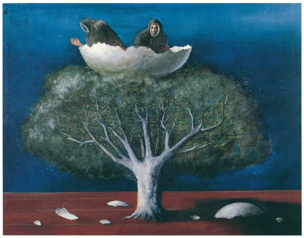 エドガー・エンデ – 卵の尼層 [エンデ父子展より] パブリックドメイン画像