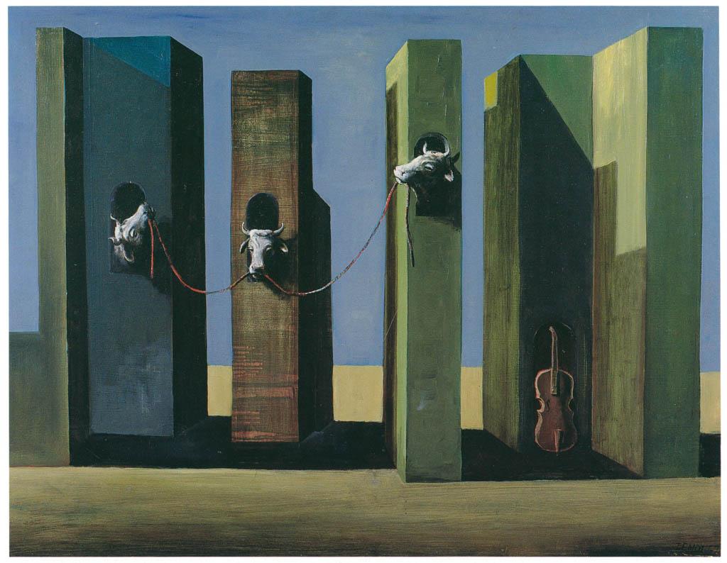 エドガー・エンデ – 牛の塔 [エンデ父子展より] パブリックドメイン画像