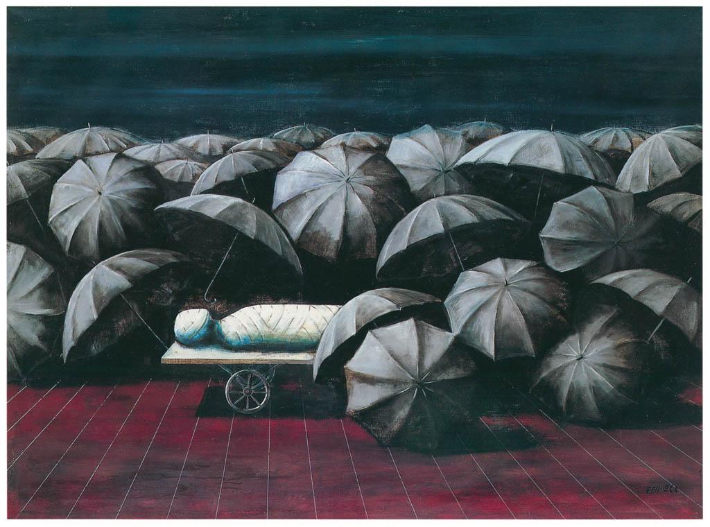 エドガー・エンデ – ラザロは待っている [エンデ父子展より] パブリックドメイン画像