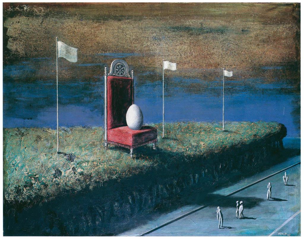 エドガー・エンデ – 大きな卵 [エンデ父子展より] パブリックドメイン画像
