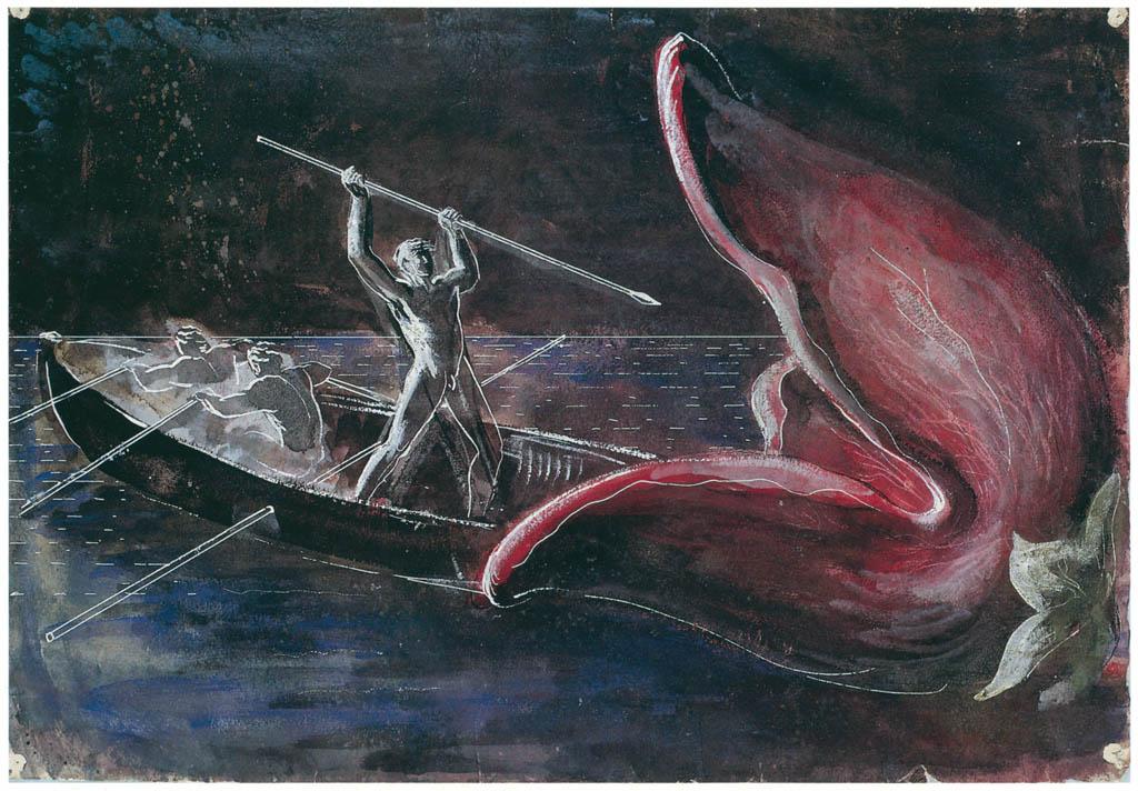 エドガー・エンデ – 大きくあいた口 [エンデ父子展より] パブリックドメイン画像