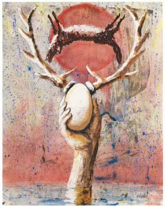 エドガー・エンデ – 角のはえた卵 [エンデ父子展より]のサムネイル画像