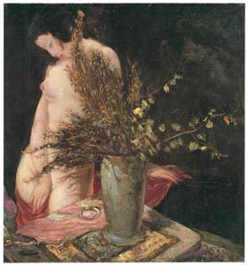 田中保 – 裸婦と花瓶 [祖国に蘇る幻の巨匠 田中保展より]のサムネイル画像