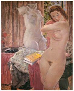 田中保 – 裸婦と彫像 [祖国に蘇る幻の巨匠 田中保展より]のサムネイル画像