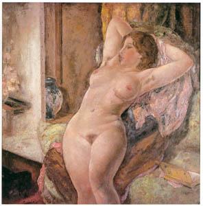 田中保 – イスにもたれる裸婦 [祖国に蘇る幻の巨匠 田中保展より]のサムネイル画像