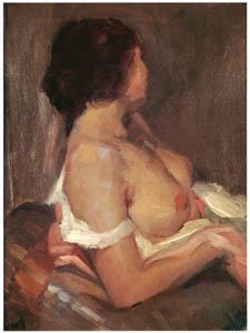 田中保 – 黙想する婦人像 [祖国に蘇る幻の巨匠 田中保展より]のサムネイル画像