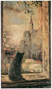 thumbnail Yasushi Tanaka – CAT IN THE WINDOW [from Exhibition Catalog of Yasushi Tanaka 1981]