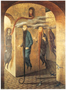 thumbnail Remedios Varo – Locomoción capilar [from Exhibition Catalog of Remedios Varo 1999]