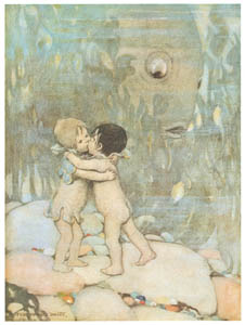 thumbnail Jessie Willcox Smith – They hugged and kissed each other for ever so long, they did not know why. [from The Water Babies]