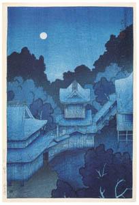 thumbnail Hasui Kawase – Souvenirs of My Travels, 1st Series : Mountain Temple, Sendai [from Kawase Hasui 130th Anniversary Exhibition Catalogue]