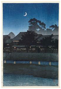 川瀬巴水 – 旅みやげ第一集 金沢ながれのくるわ [生誕130年 川瀬巴水展 郷愁の日本風景より]のサムネイル画像