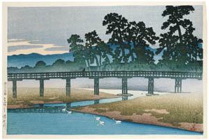 thumbnail Hasui Kawase – Souvenirs of My Travels, 1st Series : The Asano River, Kanazawa [from Kawase Hasui 130th Anniversary Exhibition Catalogue]